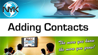 Adding contacts to your NYK email contact list