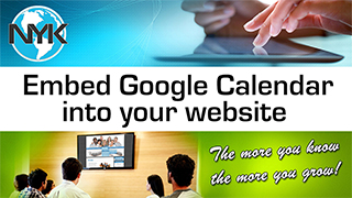 Embedding a Google Calendar onto your NYK chiropractic website