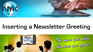 Inserting a message into a NYK newsletter