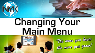 Editing your NYK Menu