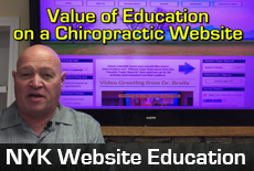 Value of education on a chiropractic website