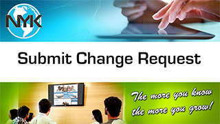 Submitting a change request to NYK Webmasters