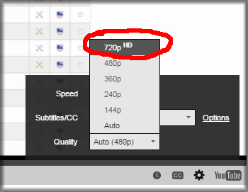 Use HD settings on videos